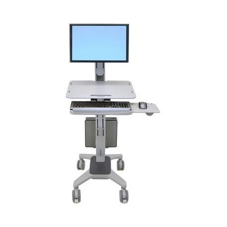 "Ergotron - WorkFit C-Mod, Single Display Sit-Stand Workstation 22"" Gris"