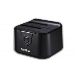 CoolBox - CAJCOODDDU3 Negro estacion base para hdd/ssd