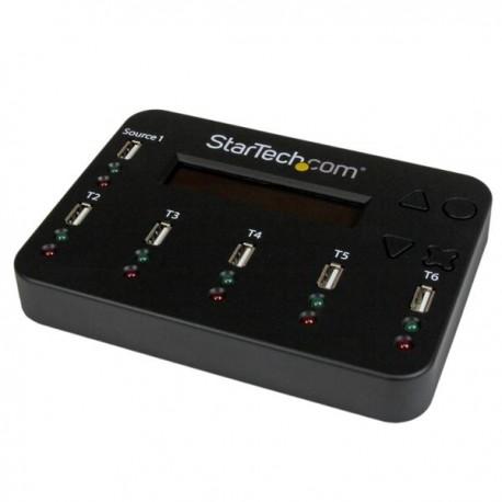StarTech.com - Clonador y Borrador Autónomo de Unidades de Memoria Flash USB 1:5 - Copiador de Memorias USB