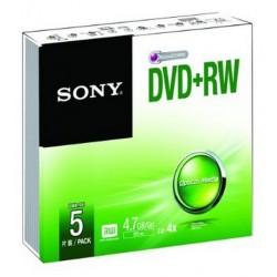 Sony - DVD+RW 4.7GB 4,7 GB 5 pieza(s)