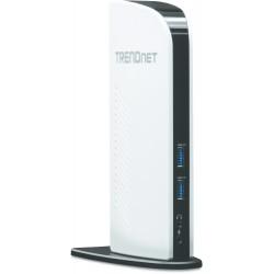 Trendnet - TU3-DS2 base para portátil y replicador de puertos Acoplamiento Negro, Blanco