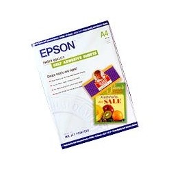 Epson - Photo Quality Ink Jet Paper autoadhesivo, DIN A4, 167 g/m², 10 hojas