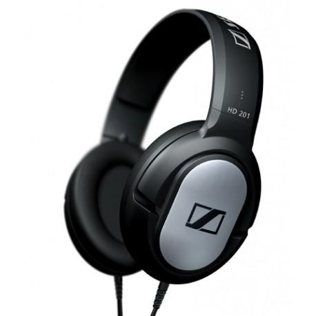 Sennheiser - HD 201 Negro, Plata Circumaural Diadema auricular