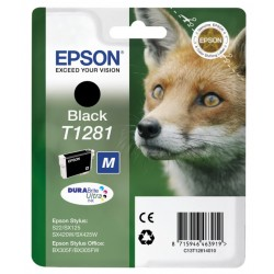 Epson - Fox Singlepack Black T1281 DURABrite Ultra Ink - C13T12814020
