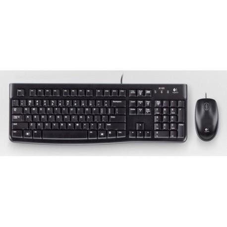 Logitech - Desktop MK120, ES USB QWERTY Español Negro