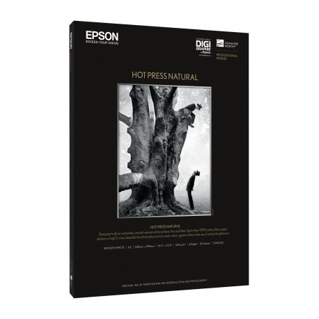 Epson - Hot Press Natural, A3+, 25 hojas