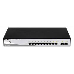 D-Link - DGS-1210-10P switch Gestionado L2 Gigabit Ethernet (10/100/1000) Negro 1U Energía sobre Ethernet (PoE)