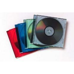 Fellowes - 98317 Caja transparente para CD 1discos Multicolor funda para discos ópticos