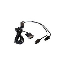 Datalogic - CAB-320 RS-232 Straight 25-Pin DTE cable de señal Negro