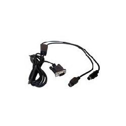 Datalogic - CAB-320 RS-232 Straight 25-Pin DTE Negro cable de señal
