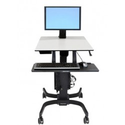 Ergotron - WorkFit-C, Single LD Sit-Stand Workstation Carro multimedia Negro, Gris