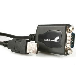 StarTech.com - Cable Profesional de 0,3m USB a Puerto Serie Serial RS232 DB9 con Retención del Puerto COM
