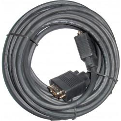 3GO - 3m VGA M/M 3m VGA (D-Sub) Negro cable VGA
