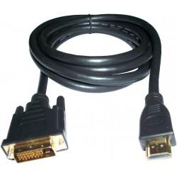 3GO - 2m DVI/HDMI M/M Negro