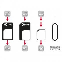 Celly - SIMKITAD SIM card adapter adaptador para tarjeta de memoria sim / flash