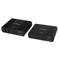 StarTech.com - Extensor 2 puertos USB 2.0 por cable Ethernet UTP RJ45 100m de alcance rango