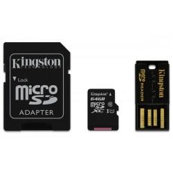Kingston Technology - Mobility kit / Multi Kit 64GB memoria flash MicroSDXC Clase 10 UHS