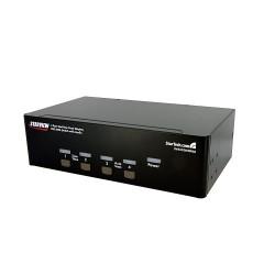 StarTech.com - Conmutador Switch KVM 4 Ordenadores 2 Monitores Dobles DVI Audio 4 Puertos USB 2048x1536
