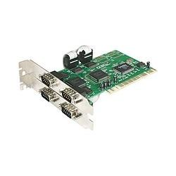 StarTech.com - Tarjeta Adaptadora PCI de 4 Puertos Serie RS232 DB9 UART 16550 - Doble Voltaje