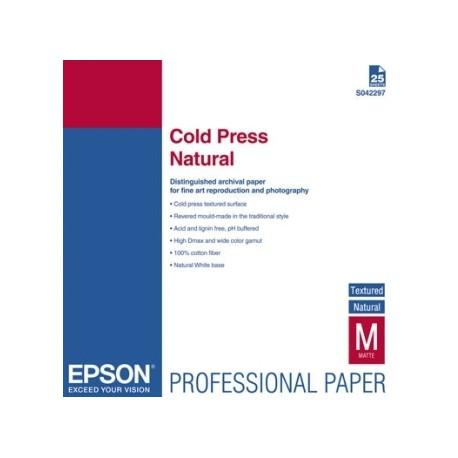 Epson - Cold Press Natural, DIN A2, 25 hojas papel para impresora de inyección de tinta
