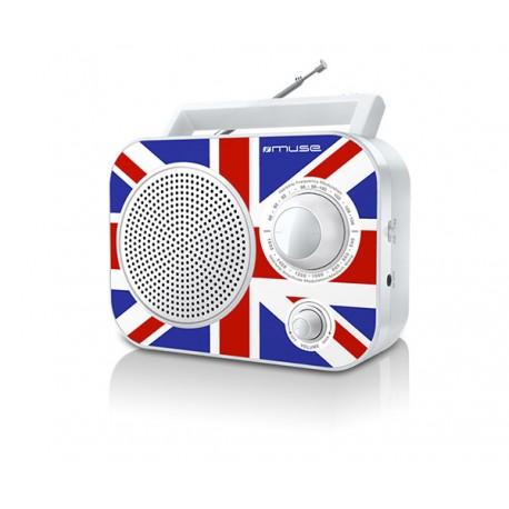 Muse - M-060 UK Portátil Analógica Negro, Azul, Rojo radio