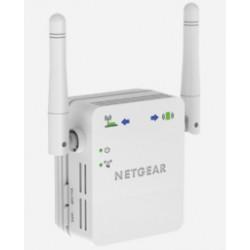 Netgear - N300 WiFi Range Extender Transmisor y receptor de red 10,100,300 Mbit/s Blanco