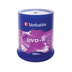 Verbatim - DVD+R Matt Silver 4,7 GB 100 pieza(s)