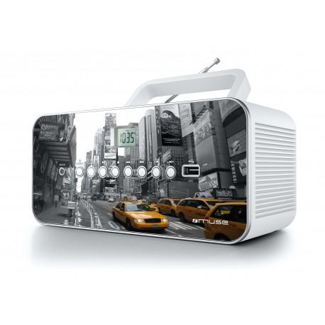 Muse - M-28 NY Analógica Gris, Color blanco Radio CD