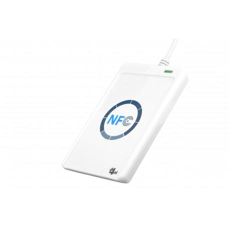 Bit4id - miniLector Air Interior RS-232 Color blanco lector de tarjeta inteligente
