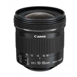 Canon - EF-S 10-18 f/4.5-5.6 IS STM Ultra-wide lens Negro