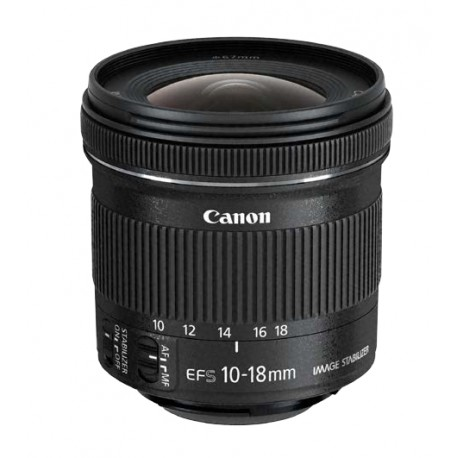 Canon - EF-S 10-18 f/4.5-5.6 IS STM Objetivo ultra ancho Negro