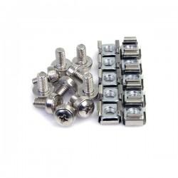 StarTech.com - Paquete de 100 Tornillos y Tuercas Enjauladas Cage Nuts M6