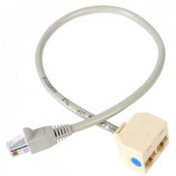 StarTech.com - Cable Adaptador Divisor Splitter RJ45 2 a 1 - Hembra a Macho - Divisor Splitter para Cable de Red Et