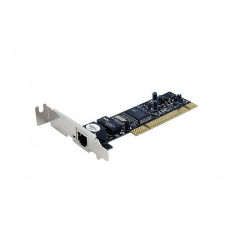 StarTech.com - Adaptador Tarjeta de Red PCI NIC de Perfil Bajo de 1 Puerto Fast Ethernet 10/100Mbps RJ45