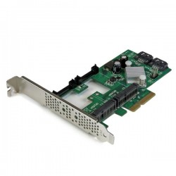 StarTech.com - Tarjeta Controladora SATA III RAID PCI Express 2.0 con 2 Ranuras mSATA Emparejamiento HyperDuo para SSD
