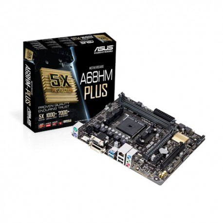 ASUS - A68HM-Plus AMD A68H Socket FM2+ Micro ATX placa base