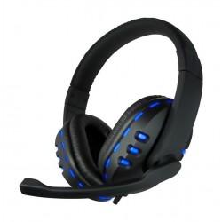 CoolBox - Bluelight G2 Binaural Diadema Negro, Azul auricular con micrófono