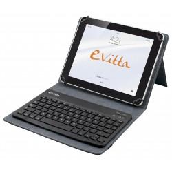 e-Vitta - KeyTab BT Pure teclado para móvil Español Rojo Bluetooth