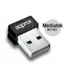 Approx - Adaptador Inalámbrico N 150Mbps Nano USB
