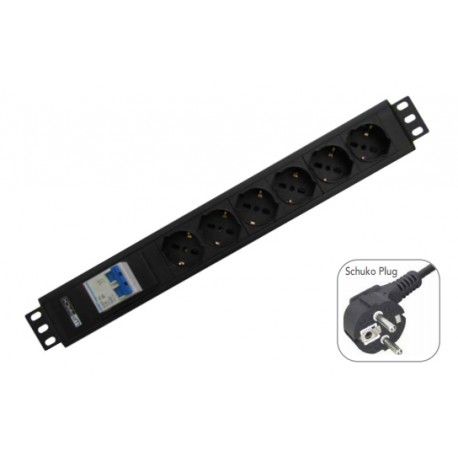 WP - WPN-PDU-G02-12 12AC outlet(s) 2m Negro base múltiple