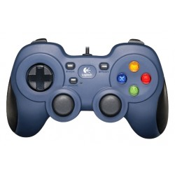 Logitech G - F310 Gamepad PC Digital Negro, Azul, Multicolor
