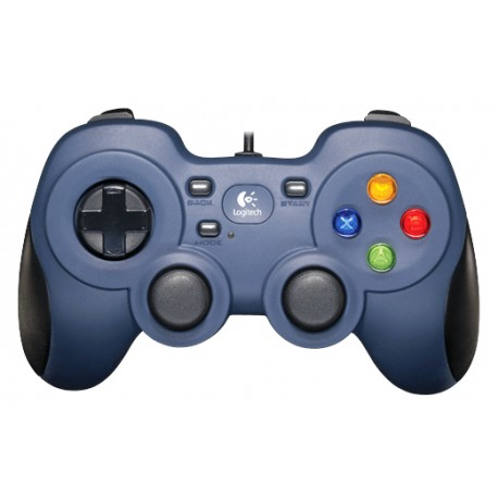 Logitech - F310 Gamepad PC Negro, Azul, Multicolor