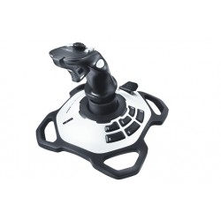 Logitech G - Extreme 3D Pro Palanca de mando PC Digital USB 2.0 Negro, Blanco