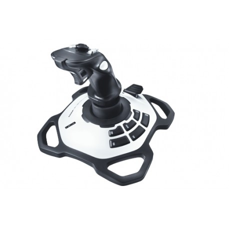 Logitech - Extreme 3D Pro Palanca de mando PC Negro, Color blanco