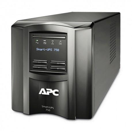 APC - Smart-UPS Línea interactiva 750VA 6AC outlet(s) Torre Negro sistema de alimentación ininterrumpida (UPS)