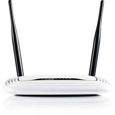 TP-LINK - TL-WR841N Banda única (2,4 GHz) Ethernet rápido Negro, Blanco router inalámbrico