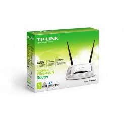 TP-LINK - TL-WR841N Fast Ethernet Negro, Color blanco router inalámbrico