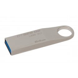 Kingston Technology - DataTraveler SE9 G2 64GB 64GB USB 3.0 (3.1 Gen 1) Conector USB Tipo A Plata unidad flash USB