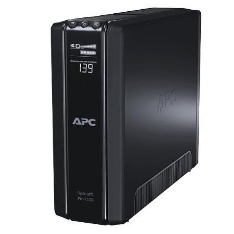 APC - Back-UPS Pro Línea interactiva 1500VA 10AC outlet(s) Negro sistema de alimentación ininterrumpida (UPS)