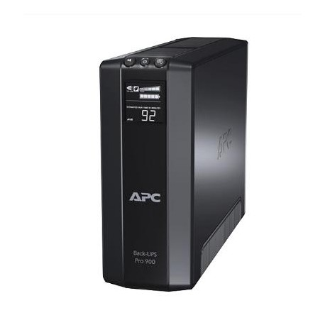 APC - Back-UPS Pro Línea interactiva 900VA 8AC outlet(s) Negro sistema de alimentación ininterrumpida (UPS)